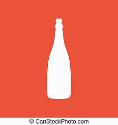 The champagne icon. Wine symbol. Flat