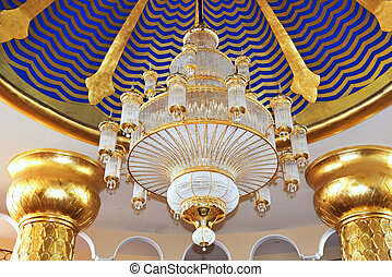 The chandelier in hotel's lobby at luxury hotel, Antalya, ...