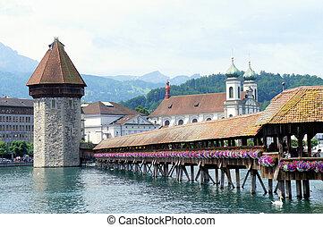 The Chapel Bridge in Lucerne