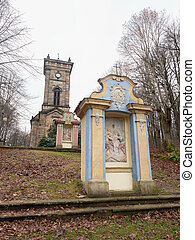 The Chapel of the Holy Cross at the end of Calvary, Jiretin pod Jedlovou town,