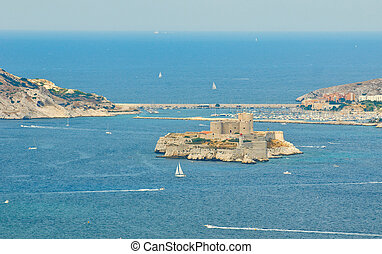 the chateau d'if, marseille, france