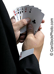 The Cheat - A man has an ace up his sleeve.