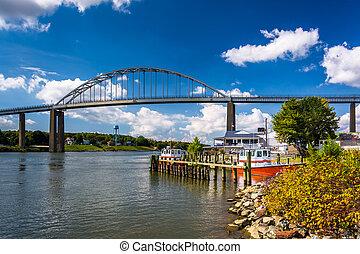 The Chesapeake City Bridge, over the Chesapeake and Delaware...