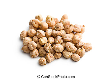 chickpeas - the chickpeas on white background