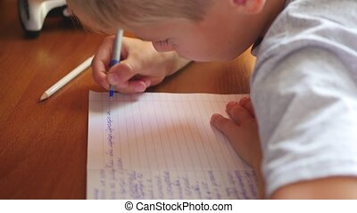 the child does the lessons at home