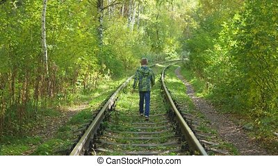 the child goes by rail