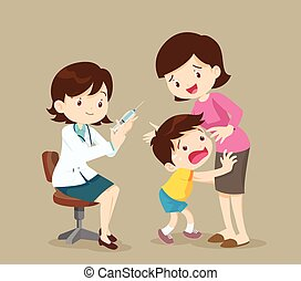 The child is afraid of injection