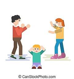 The child suffers when parents quarrel