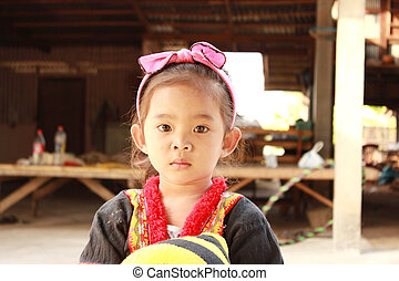 the children in hill tribe of Thailand