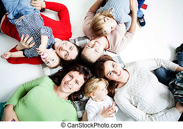 The children with moms