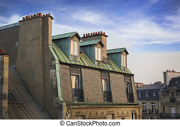 The Chimney Pots of Paris Rooftops