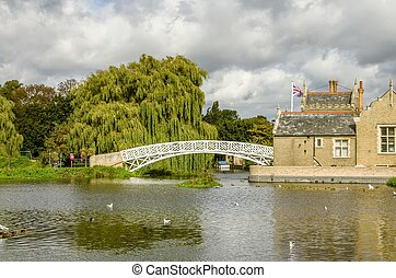 The Chinese bridge, Godmanchester. - A view of the Chinese...