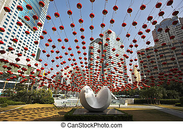 The Chinese city in New year