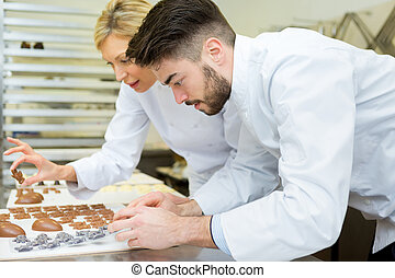the chocolatiers are at work