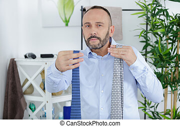 the choice of the tie