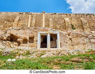 The Choragic monument of Thrasyllus. Acropolis of Athens....