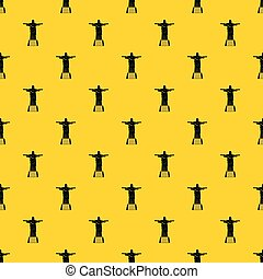 The Christ the Redeemer statue pattern vector