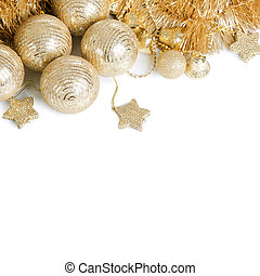 The christmas tree ball isolated  background
