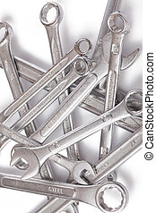 spanners  - the chrome spanners on white background