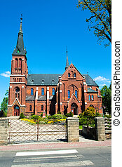 The church in Gorzow Slaski, Poland