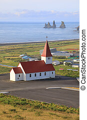The Church in the village of Vik, Iceland