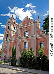 The Church of All Saints in Vilnius