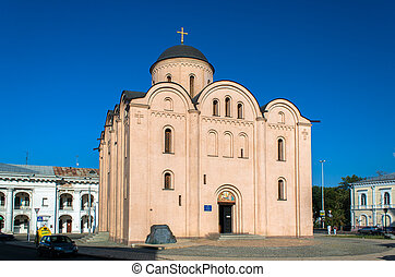 The Church of Assumption of the Blessed Virgin Mary Pyrohoshchi. Kiev, Ukraine