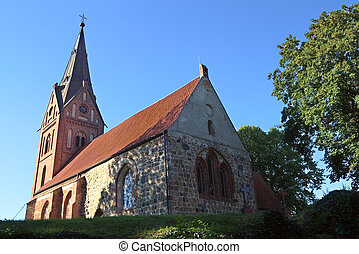 The church of Hanshagen in Mecklenburg-West Pomerania, Germany.