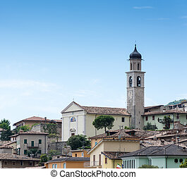 Limone at Lake Garda - The church of Limone at Lake Garda