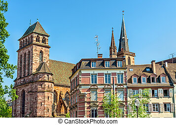 The Church of Old Saint Peter in Strasbourg, France
