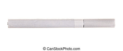 The cigarette isolated on a white background