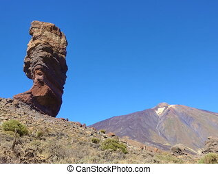 Tenerife - The Cinchado rock the Teide volcano in Tenerife...