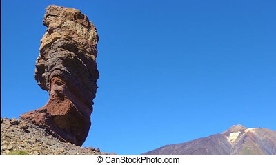 The Cinchado rock the Teide volcano in Tenerife island, The...