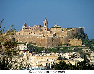 The Citadel in Rabat, Gozo - Malta.