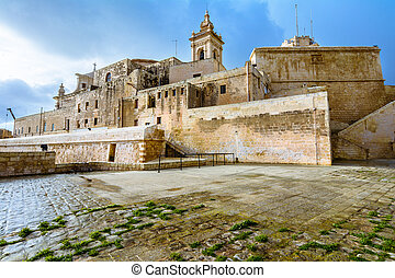 The Citadel, Victoria, Gozo, Malta. - The Citadel fortres on...