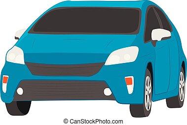 city car vector drawing illustration