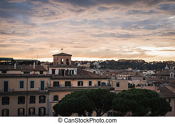 The city from the Vittorio Emanuele II monument in Rome