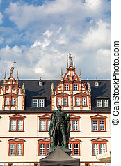 The city house on the Marktplatz square of Coburg in Germany