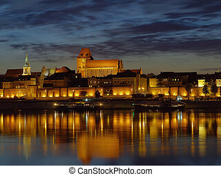 The city in which he lived Nicolaus Copernicus. Torun, Poland.