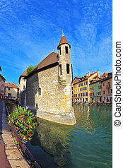 The city of Annecy in Provence