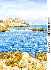 The city of Antibes, France