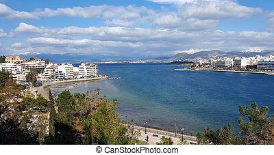 The city of Chalkida, Evia, Greece