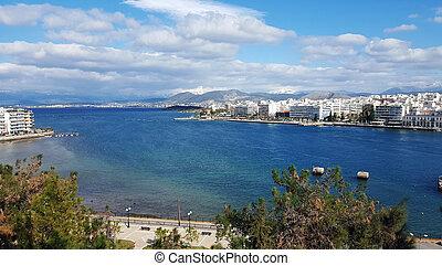 The city of Chalkida, Evia, Greece