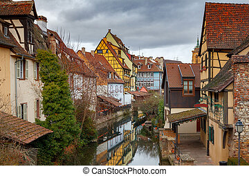 The city of Colmar is decorated for Christmas.