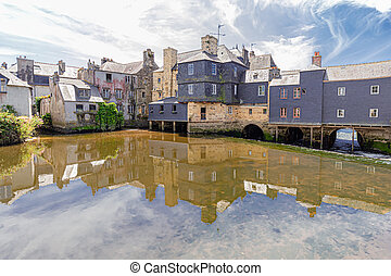 the city of Landerneau, in Brittany