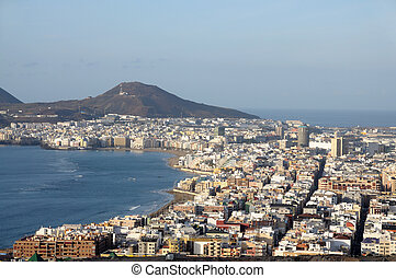 The City of Las Palmas de Gran Canaria, Spain