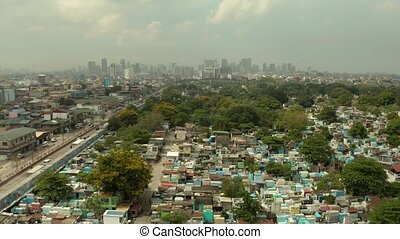 The city of Manila, the capital of the Philippines. - The...