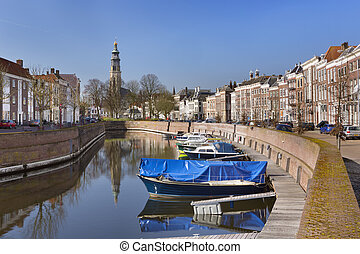 Middelburg with the Lange Jan church tower in The...