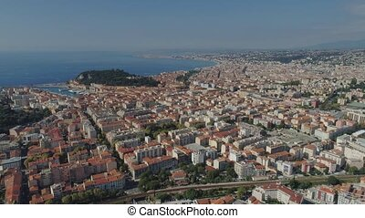 The city of Nice in the south of France on the azure coast...
