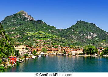 the city of Riva del Garda, Italy - the city of Riva del ...